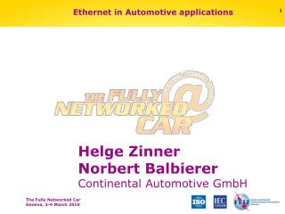 Ethernet in Automotive applications