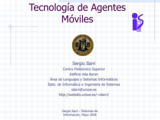 Tecnología de Agentes Móviles