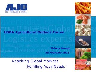 USDA Agricultural Outlook Forum