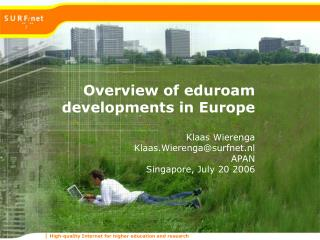 Overview of eduroam developments in Europe