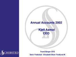 Annual Accounts 2002   Kjell Aamot CEO