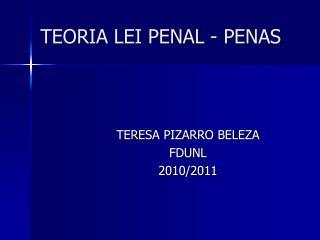 TEORIA LEI PENAL - PENAS
