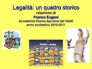 I punti che tratteremo sono: La nostra Academia La storia preromana La storia romana