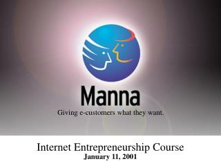 Internet Entrepreneurship Course