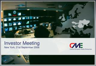 Investor Meeting  New York, 21st September 2006