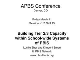 APBS Conference Denver, CO