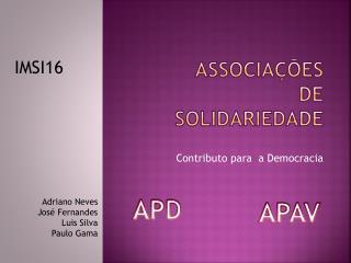 Associações de solidariedade
