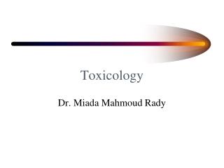 Major Toxidromes