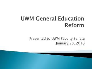 UWM General Education Reform
