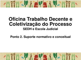 Oficina Trabalho Decente e Coletivização do Processo SEDH e Escola Judicial