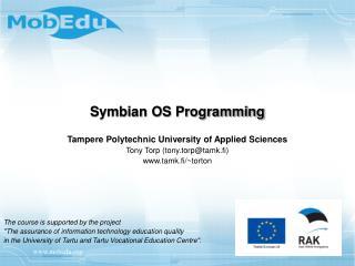 Symbian OS Programming