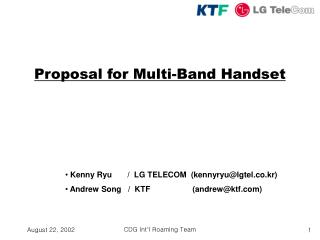 Proposal for Multi-Band Handset