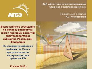 ЗАО «Агентство по прогнозированию балансов в электроэнергетике» Генеральный  директор
