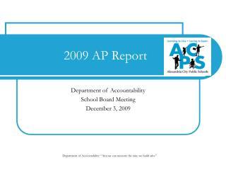 2009 AP Report