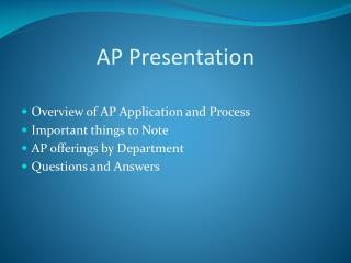AP Presentation