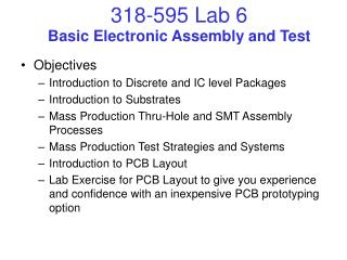 Basic Electronic Assembly and Test