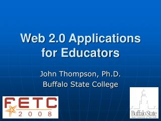 Web 2.0 Applications for Educators