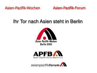 Asien-Pazifik-Wochen            Asien-Pazifik-Forum