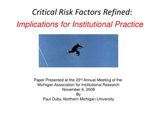 Critical Risk Factors Refined :