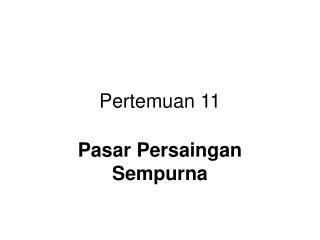 Pertemuan 11