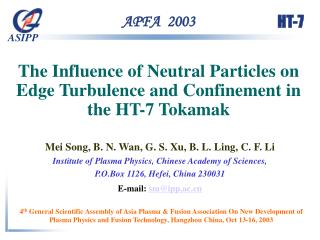 The Influence of Neutral Particles on Edge Turbulence and Confinement in the HT-7 Tokamak