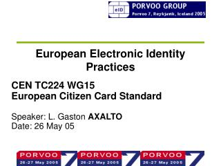European Electronic Identity Practices