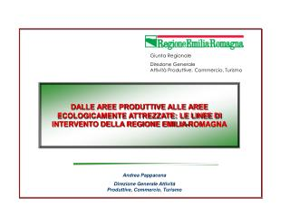 Andrea Pappacena Direzione Generale Attività Produttive, Commercio, Turismo