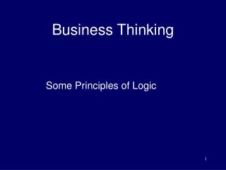 Business Thinking