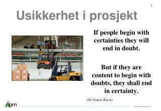 Usikkerhet i prosjekt