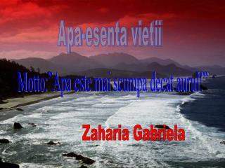 Zaharia Gabriela