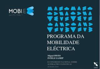 Programa DA MOBILIDADE ELÉCTRICA