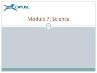 Module 7: Science