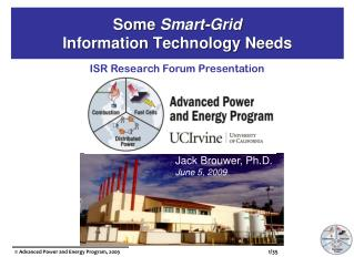 Some  Smart-Grid Information Technology Needs