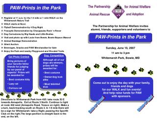 Come out to enjoy the day with your family,  friends and dogs for our WALK and fun events!
