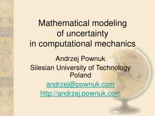 Mathematical modeling  of uncertainty  in computational mechanics
