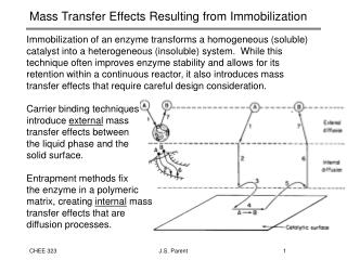 Mass Transfer Effects Resulting from Immobilization