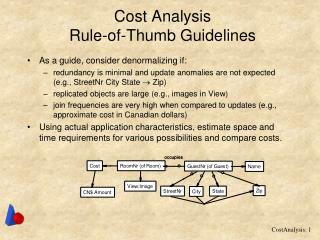Cost Analysis Rule-of-Thumb Guidelines