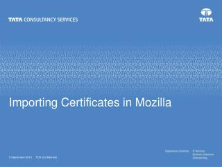 Importing Certificates in Mozilla