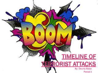 Timeline of  Terrorist Attacks