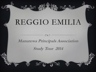Initiating a Reggio Emilia Approach to Teaching and Learning