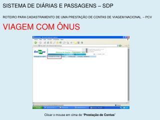 SISTEMA DE DIÁRIAS E PASSAGENS – SDP
