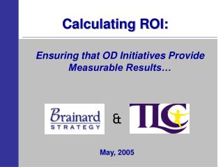 Calculating ROI: