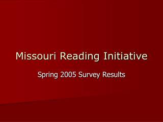 Missouri Reading Initiative