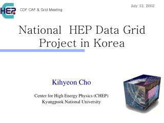 National  HEP Data Grid  Project in Korea