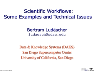 Creating and Managing  Distributed Scientific Workflows: Techniques and Tools