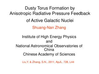 Dusty Torus Formation by  Anisotropic Radiative Pressure Feedback of Active Galactic Nuclei