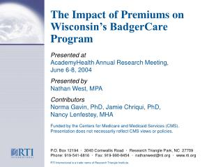 The Impact of Premiums on Wisconsin's BadgerCare Program