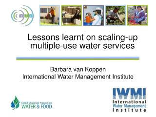 Lessons learnt on scaling-up multiple-use water services