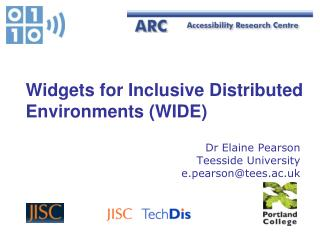 Widgets for Inclusive Distributed Environments (WIDE)