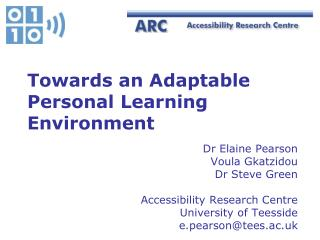 Towards an Adaptable Personal Learning Environment